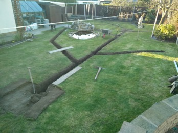 of the garden which includes lawns and borders there are different considerations i would always advise a system of drainage know as a land drain - Garden Drainage